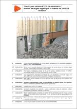 Detalles constructivos. Sistema ETICS de aislamiento térmico de origen vegetal. Zócalo para sistema ETICS de aislamiento térmico de origen vegetal por el exterior de fachadas.