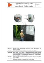 """Detalles constructivos. Ajardinamientos verticales. Ajardinamiento vertical con cultivo semihidropónico en geoproductos, para exterior, sistema """"TERAPIA URBANA"""""""