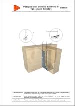 Detalles constructivos. Elementos auxiliares para estructuras de madera. Pieza para unión a cortante de extremo de viga o vigueta de madera