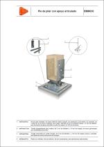 Detalles constructivos. Elementos auxiliares para estructuras de madera. Pie de pilar con apoyo articulado