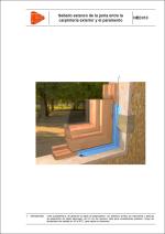 Detalles constructivos. Estanqueidad. Sellado estanco de la junta entre la carpintería exterior y el paramento.