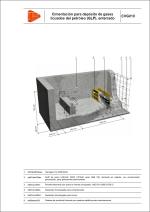 Detalles constructivos. Instalaciones de gas. Cimentación para depósito de gases licuados del petróleo (GLP), enterrado