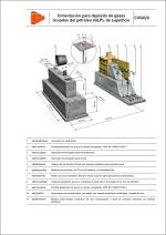 Detalles constructivos. Instalaciones de gas. Cimentación para depósito de gases licuados del petróleo (GLP), de superficie
