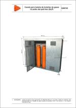 Detalles constructivos. Instalaciones de gas. Caseta para batería de botellas de gases licuados del petróleo (GLP)
