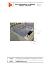 Plataforma para protección de paso de vehículos sobre zanjas