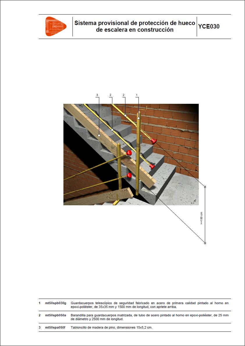 Sistema provisional de protecci n de hueco de escalera en - Proteccion para escaleras ...