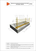 Sistema provisional de protección de borde de forjado, clase B