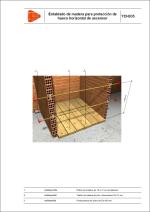 Entablado de madera para protección de hueco horizontal de ascensor