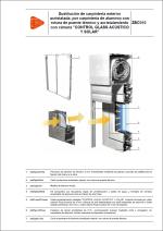 """Sustitución de carpintería exterior acristalada, por carpintería de aluminio con rotura de puente térmico y acristalamiento con cámara """"CONTROL GLASS ACÚSTICO Y SOLAR"""""""