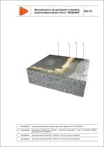 """Detalles constructivos. Revestimientos de pavimentos industriales decorativos. Revestimiento de pavimento industrial, sistema Maxurethane Floor """"DRIZORO""""."""