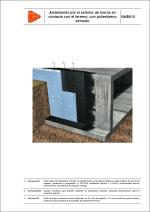 Aislamiento por el exterior de muros en contacto con el terreno, con poliestireno extruido