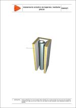 Aislamiento acústico de bajantes, mediante placas
