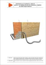 Aislamiento por insuflación, desde el exterior, en cámaras de aire de cerramiento de doble hoja de fábrica