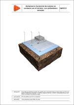 Aislamiento horizontal de soleras en contacto con el terreno, con poliestireno extruido
