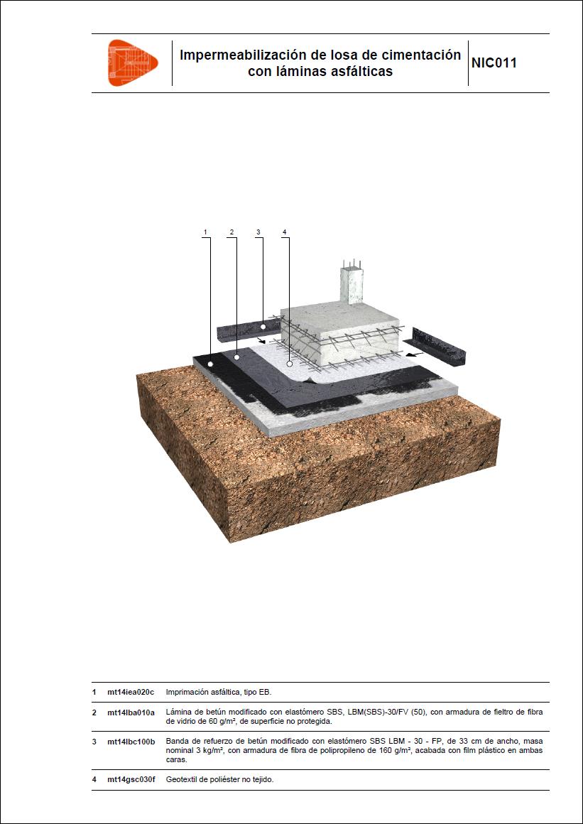 Impermeabilizaci n de losa de cimentaci n con l minas - Tipos de impermeabilizacion ...