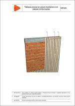 Sistemas de impermeabilización. Tabique pluvial en pared medianera con placas conformadas