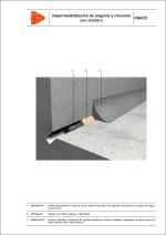 Sistemas de impermeabilización. Impermeabilización de ángulos y rincones con mortero